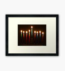 Hanukkah Lights Last Night Framed Print