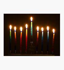 Hanukkah Lights Last Night Photographic Print