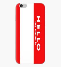 Name Tag iPhone Case
