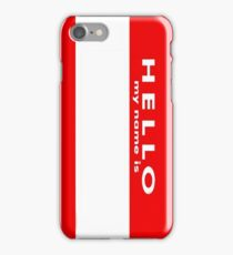Name Tag iPhone Case/Skin