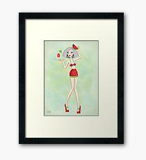 Girl sexy fruit Framed Print