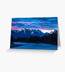 Sky River Sunrise Greeting Card
