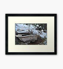 winter soak Framed Print