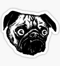MEAN MUG PUG - Ozzy Inked, negative Sticker