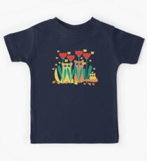 Rabble Of Butterflies In Tulip Garden Kids Clothes