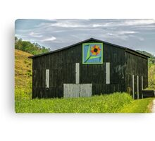 Kentucky Barn Quilt - Flower of Friendship Canvas Print