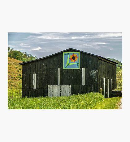 Kentucky Barn Quilt - Flower of Friendship Photographic Print