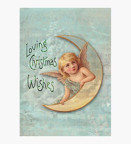 Loving Angel Wishes Photographic Print