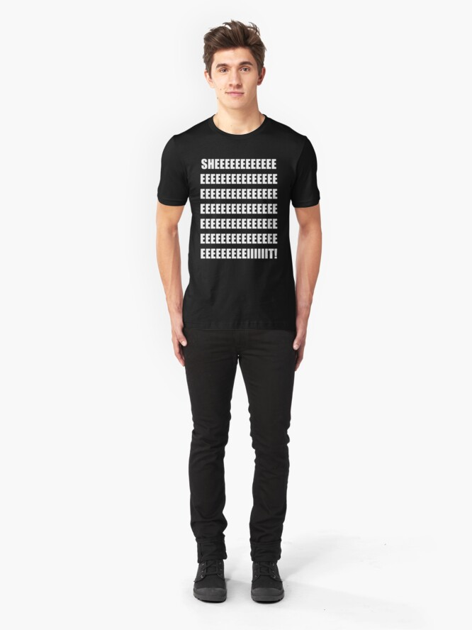Alternate view of SHEEEEEEIT! Slim Fit T-Shirt