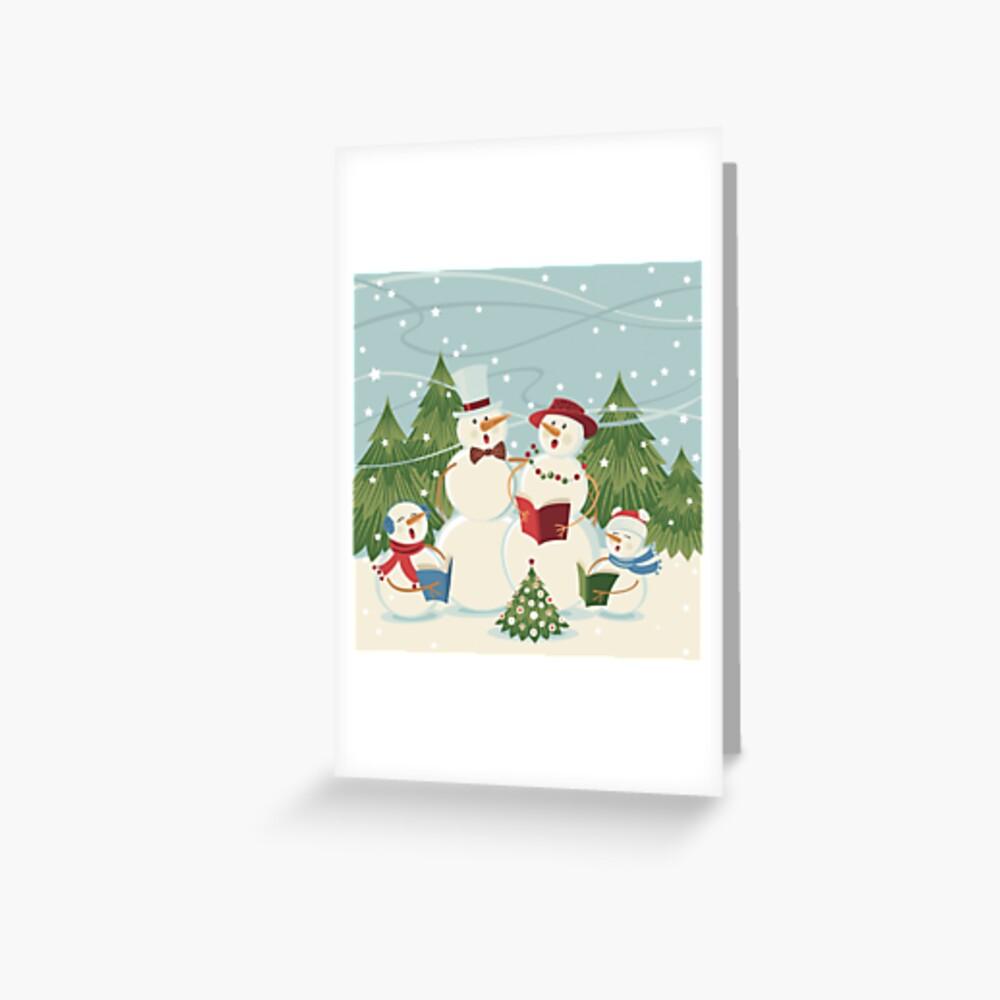 Christmas Song Greeting Card