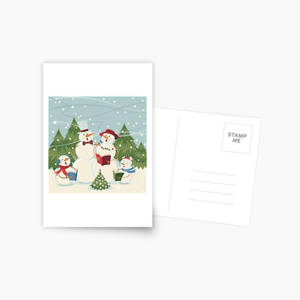 Christmas Song Postcard
