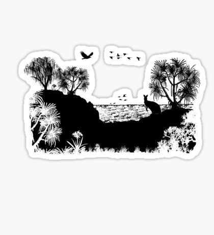 MOOLOOMBAH, MINJERRIBAH  - (AKA POINT LOOKOUT NORTH STRADBROKE ISLAND) AUSTRALIA Sticker