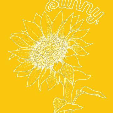 Bright Sunshiny Feeling - White version by georgianaarcher