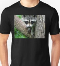 RACCOON PORTRAIT WITH PAWS & CLAWS  Unisex T-Shirt