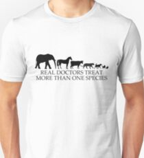 Real Doctors (Veterinarians) Treat More Than One Species Unisex T-Shirt