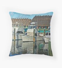 ft pierce marina Throw Pillow