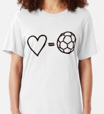 love equals football Slim Fit T-Shirt