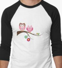 Couple owls Men's Baseball ¾ T-Shirt