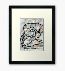 Naked despair mono print Framed Print