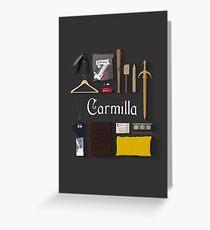 Carmilla Items Greeting Card