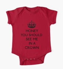 Honey, You Should See Me In A Crown (Black)  One Piece - Short Sleeve