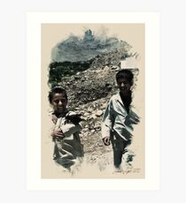 afgan boys wc2 Art Print