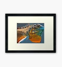 Amazing Iguana1 art Framed Print