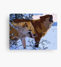Amazing Wolves Canvas Print