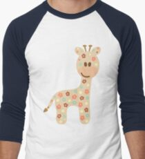Baby giraffe Men's Baseball ¾ T-Shirt