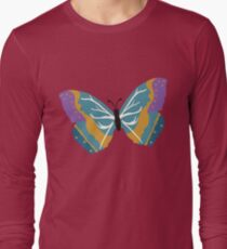 Vector illustration of beautiful butterfly Long Sleeve T-Shirt