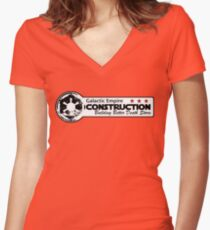 Galactic Construction Women's Fitted V-Neck T-Shirt
