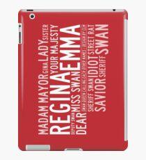 Swan Queen Nicknames (red) iPad Case/Skin
