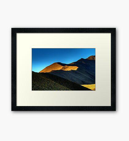 Lindis Pass Light Framed Print