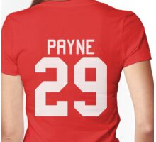 Liam Payne jersey (white text) Womens Fitted T-Shirt