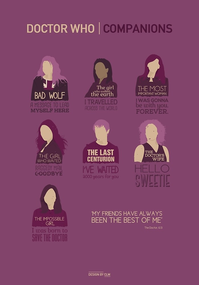 Doctor Who |Companions by CLMdesign