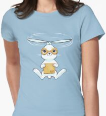Postal Bunny Womens Fitted T-Shirt