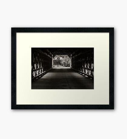 Uhlerstown Covered Bridge III Framed Print