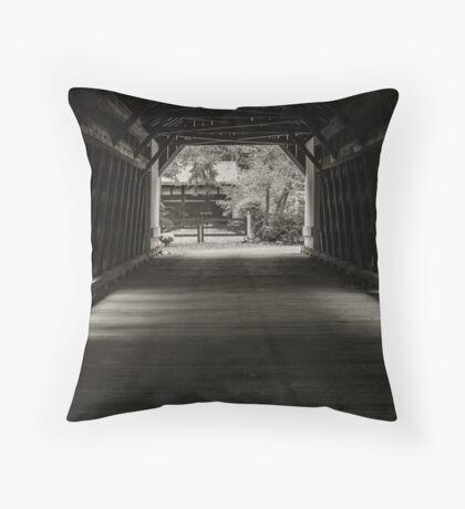 Uhlerstown Covered Bridge III Throw Pillow