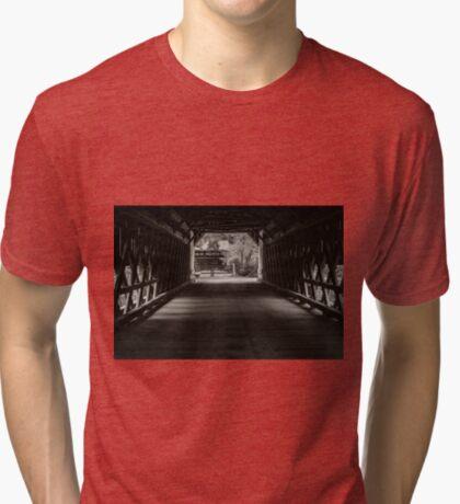 Uhlerstown Covered Bridge III Tri-blend T-Shirt