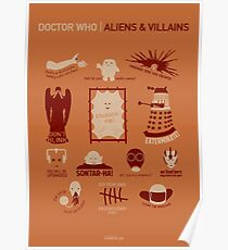 Doctor Who | Aliens & Villains (alternate version) Poster
