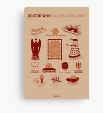 Doctor Who | Aliens & Villains Canvas Print
