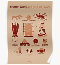 Doctor Who | Aliens & Villains Poster