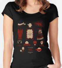 Doctor Who | Aliens & Villains Women's Fitted Scoop T-Shirt