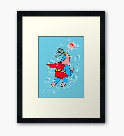 Superstar Jelly-fishing! Framed Print