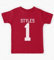 Harry Styles jersey (white text) Kids Tee