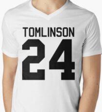 Louis Tomlinson jersey (black text) Men's V-Neck T-Shirt