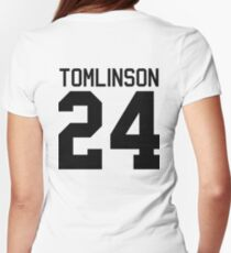 Louis Tomlinson jersey (black text) Womens Fitted T-Shirt