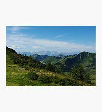 Mountain scenery near Portlahorn, Austria Photographic Print
