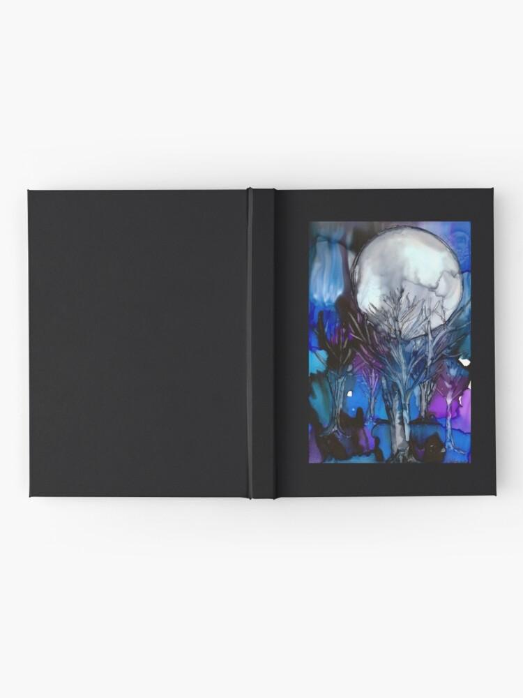 Alternative Ansicht von Winter Mond Notizbuch