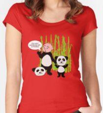 I'm not wanking off a Panda - Karl Pilkington T Shirt Women's Fitted Scoop T-Shirt